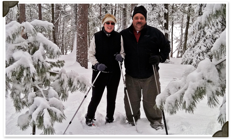 Cross Country Skiing & Snowshoeing at Black's Cliff Lakeside Resort