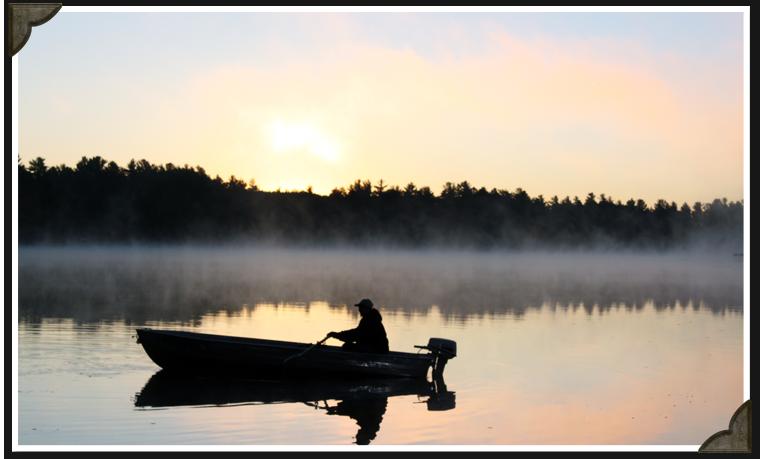 Fishing recreation around the resort northern for Northern wisconsin fishing resorts